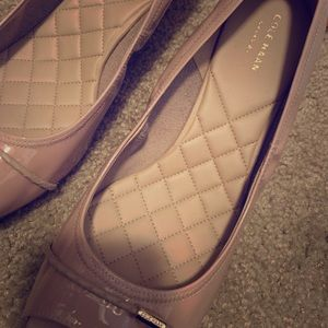 Cole Haan Leather Wedge Pump